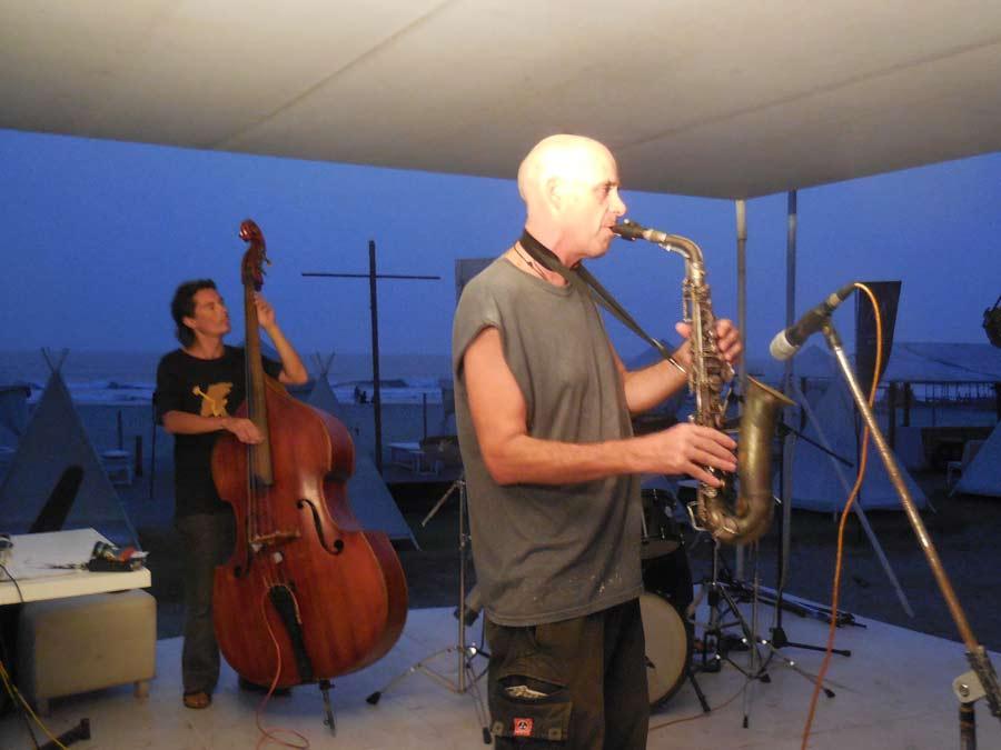 sax, double bass