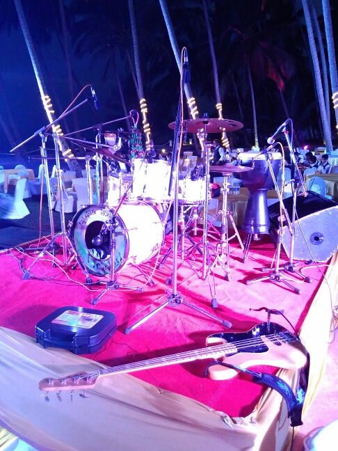 Wedding band on stage in Goa